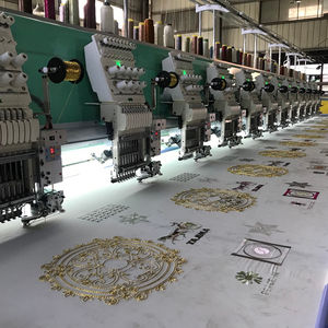 high quality China ricoma flat and easy cording device mixed embroidery machine 12 computerized