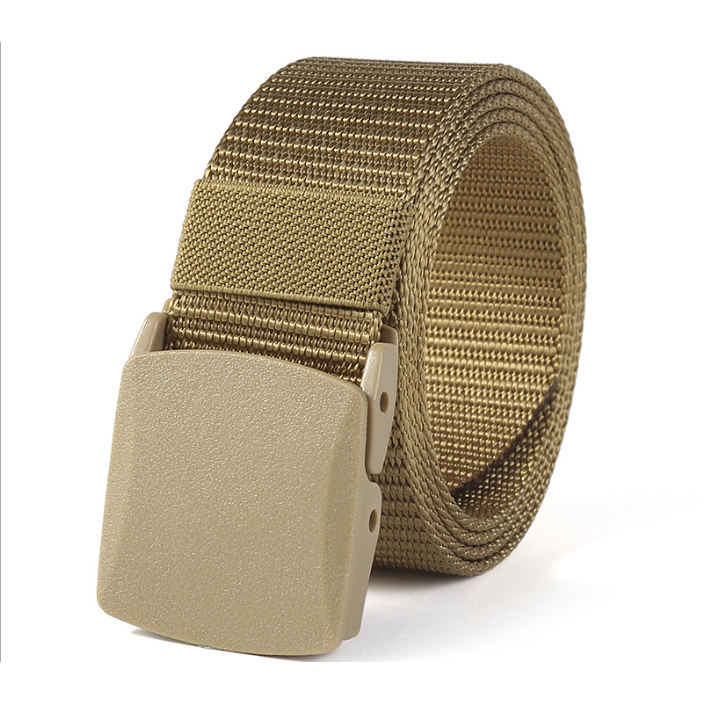 Cheap promotion Nylon Canvas Breathable Military Tactical Men Waist Belt With Plastic Buckle