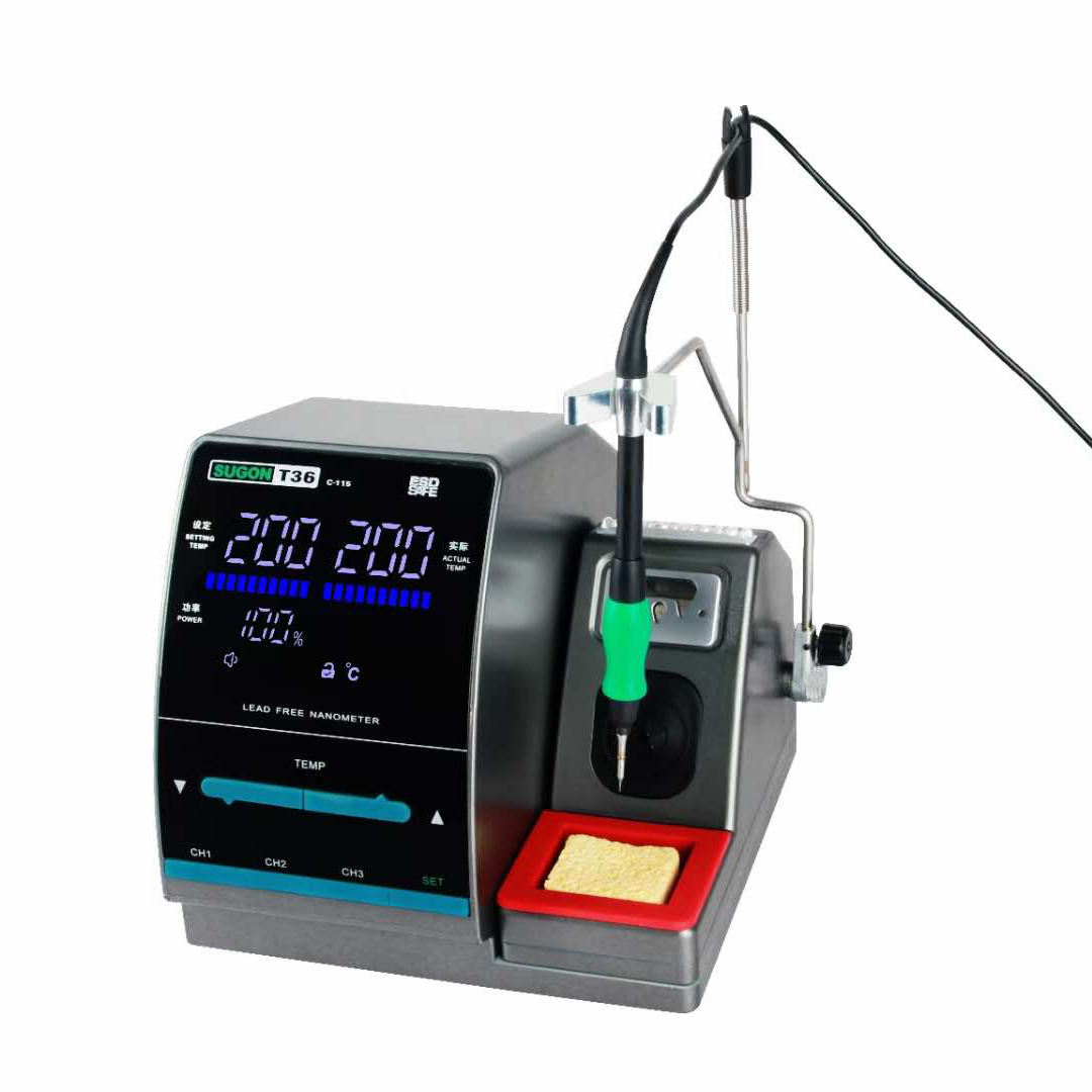 T36 Top Quality 300W Power Heating System JBCハンドルLeadの送料1S Rapid Heating Solding Iron Kit Soldering Station