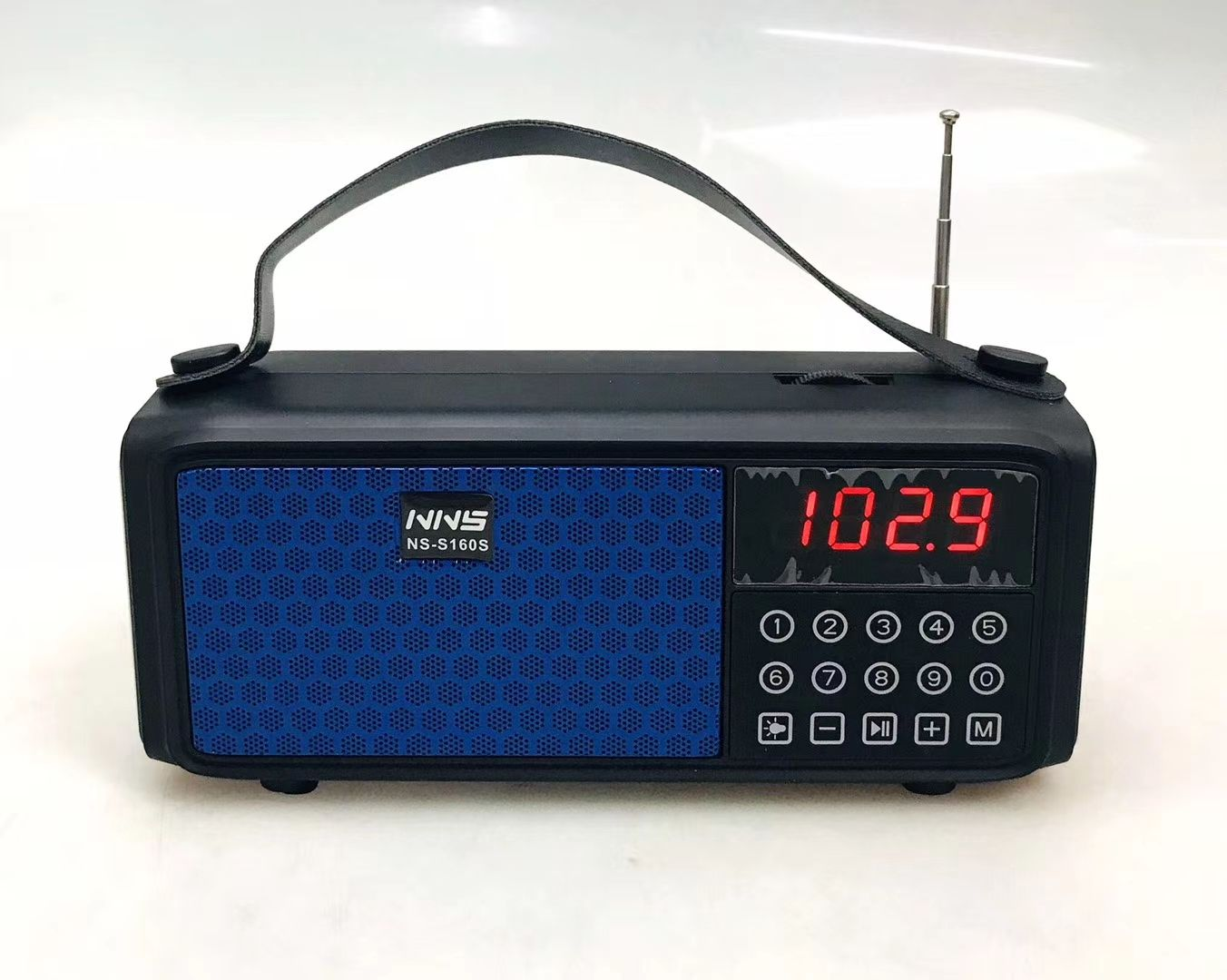 NS-S160S Solar power rechargeable home radio speaker with AM/ FM/SW 3 BAND radio &USB/TF player