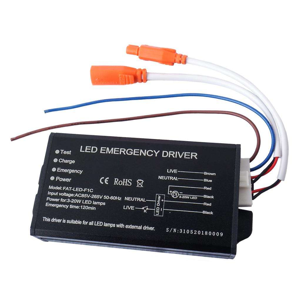 2019 best sale Aluminum power 3w 4w Backup battery led emergency driver
