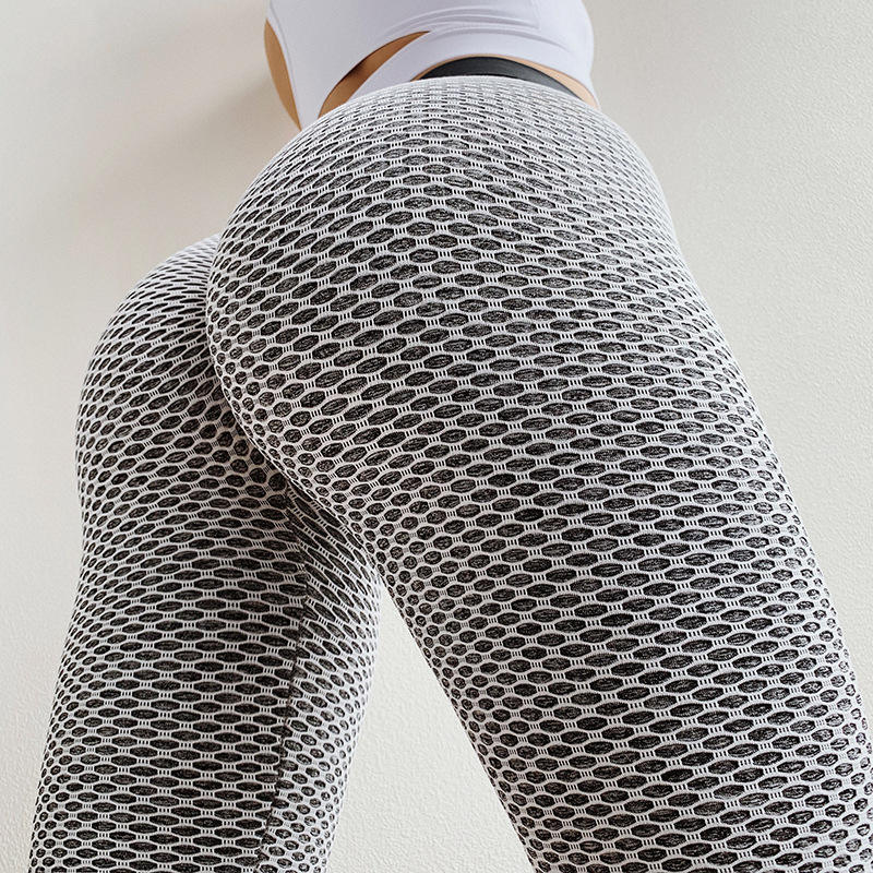 Hot Ladies High Waist Hip Lift Yoga Pants Women Fashion Gym Tights Workout Clothing with Mesh Sports Leggings