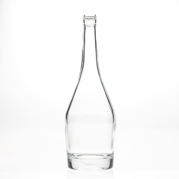 Clear Empty Crystal 750ml Vodka Glass Bottles Empty Whisky Bottle Glass for Wine