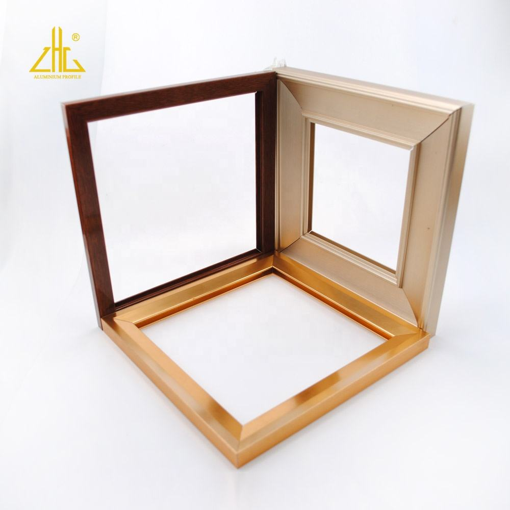 High quality brushed aluminum photo frame extrusion profile / Anodise aluminum extruded picture frame for interior decoration