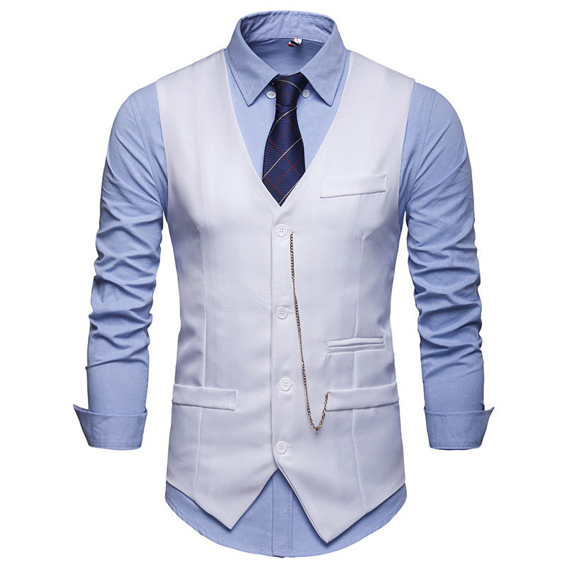 The Latest Design Luxury Handsome High-quality Wool Multi-color Men's Formal Vest Vest