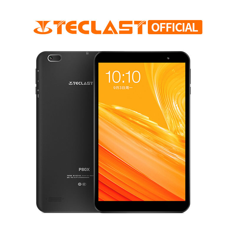 Teclast P80X 4G Tablet Android 9.0 SC9863A IMG GX6250 8inch 1280 x 800 IPS Octa Core 1.6GHz 2GB RAM 32GB ROM Dual Cameras Tablet