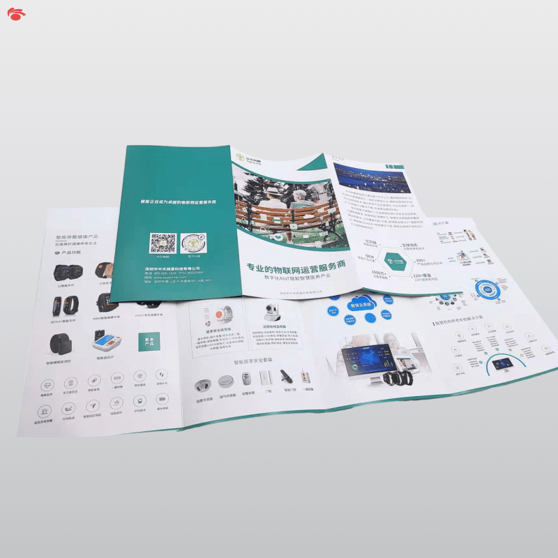 Manufacturer Customized Printing Corporate Brochures Paperback Binding Book