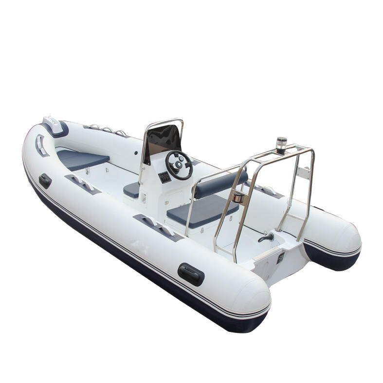 CE certificate inflatable fishing fiberglass hull rib480 boat made in China