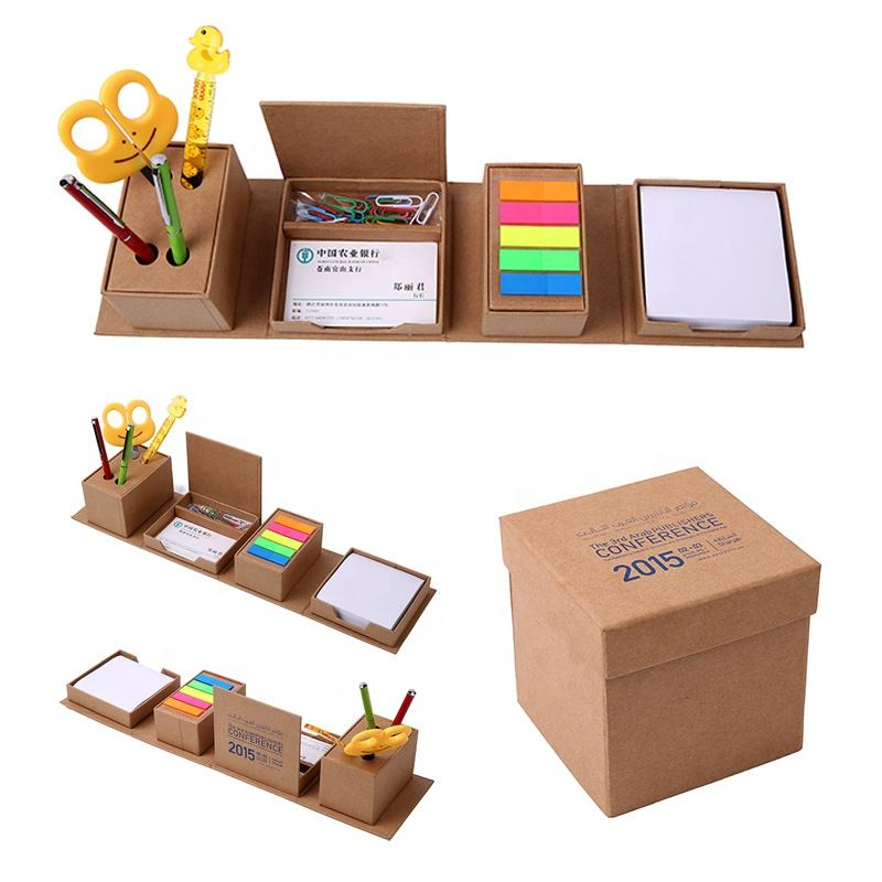 Promotional customized rectangular desktop cube memo pad set post sticky note recycled