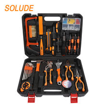 SOLUDE Home Repair Tools Sets,85 Pieces General Household Hand Tool Kits with Plastic Toolbox Storage Case