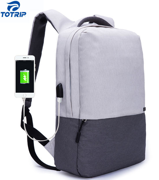 Travel 15.6 inch laptop business USB charging port bagpack