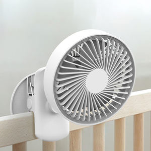 2020 hot usb Table Desk Crib Clip Fan with Light USB Rechargeable Desktop Air Fan Office Household Fan