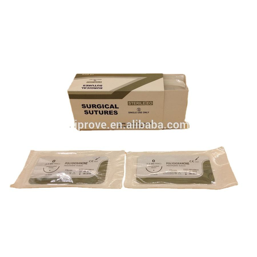 Absorbable Polydioxanone (PDS or PDO) Surgical Suture With Needle