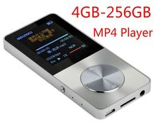 Metal MP3 MP4 Music Player 4GB-256GB Video Sport Flash HIFI Lossess Slim MP4 Video Player Radio Recorder Walkman with Speaker