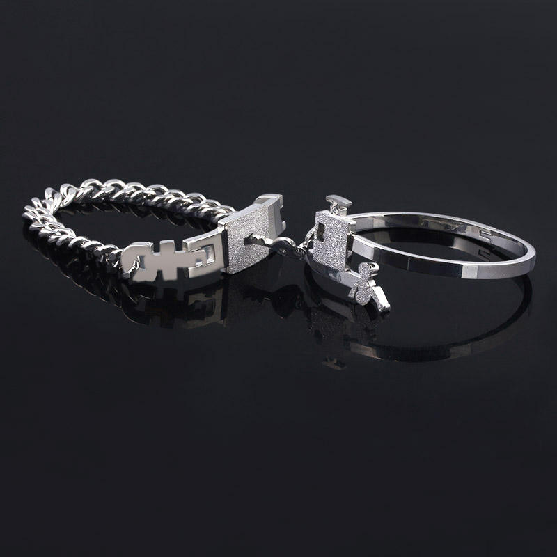 2020 New Arrival Stainless Steel Jewelry A Set Heart Lock And Key Couple Bracelet