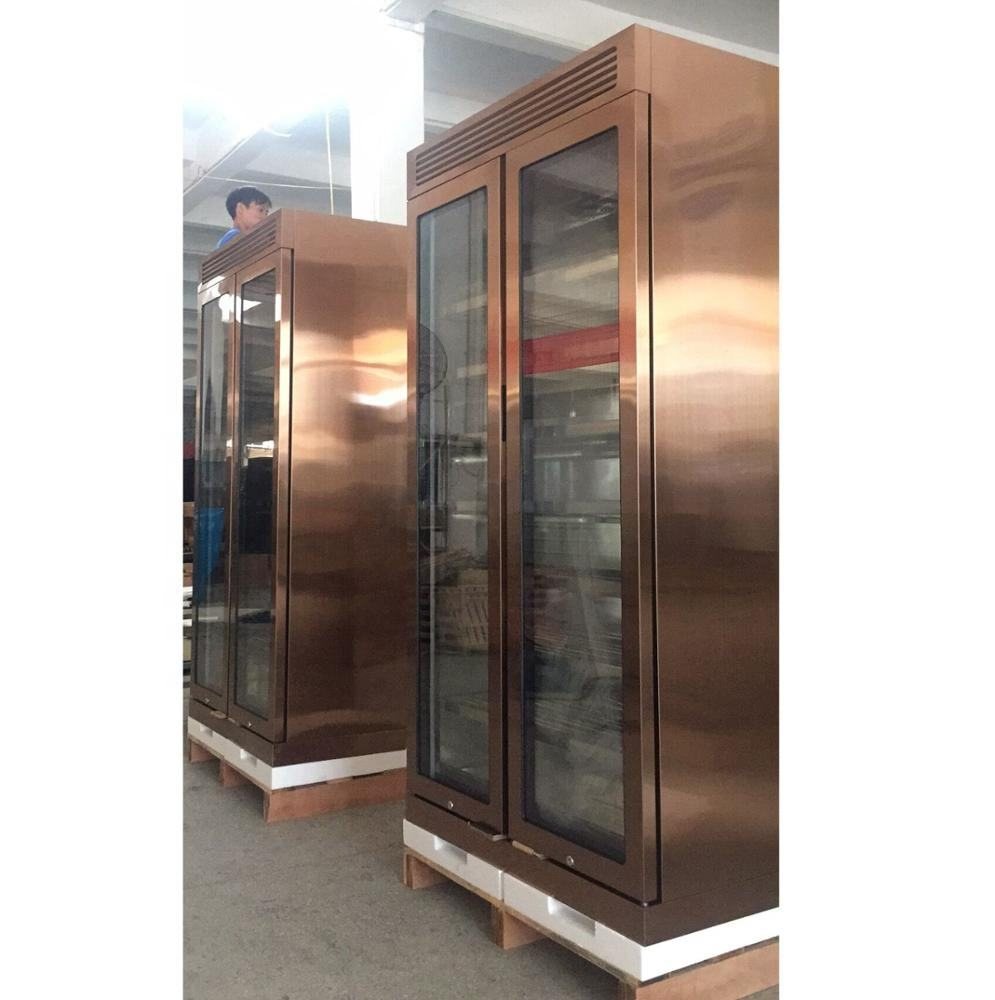 320 Capacity Glass Door Wine Cigar Refrigerator Constant Temoerature Control