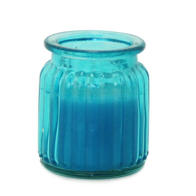 Gran venta brisa del océano frasco de vidrio vela de <span class=keywords><strong>cera</strong></span> de parafina con aceite esencial puro de sal de mar de niebla