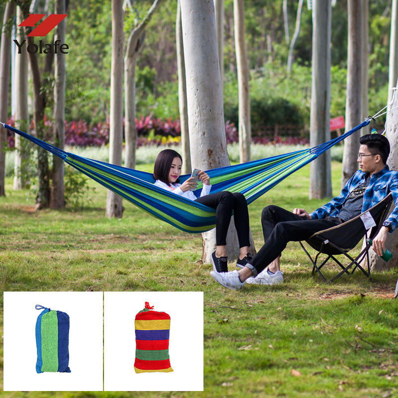 Outdoor camping hammock canvas folding color hammock