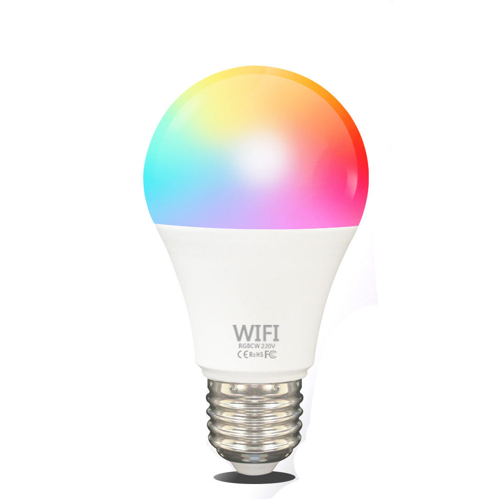 Wholesale OEM ODM E27 Wifi Light Bulb 7W 9W 15W WiFi Colored Smart LED Bulb Lights RGB Lamp For Residence KTV
