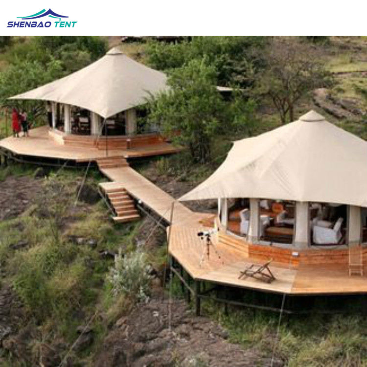 Luxury Tent Hotel With PVDF Membrane Structure For Safari Eco Glamping Resort Dome Tent