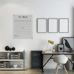 Apex Custom Dry Erase Clear Acrylic Material Calendar Wall Mounted For Office School