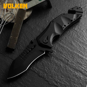 Outdoor New Camping Folding Knife Portable Multifunctional Pocket Knife with Window Breaker Secant Aluminum Handle Knife