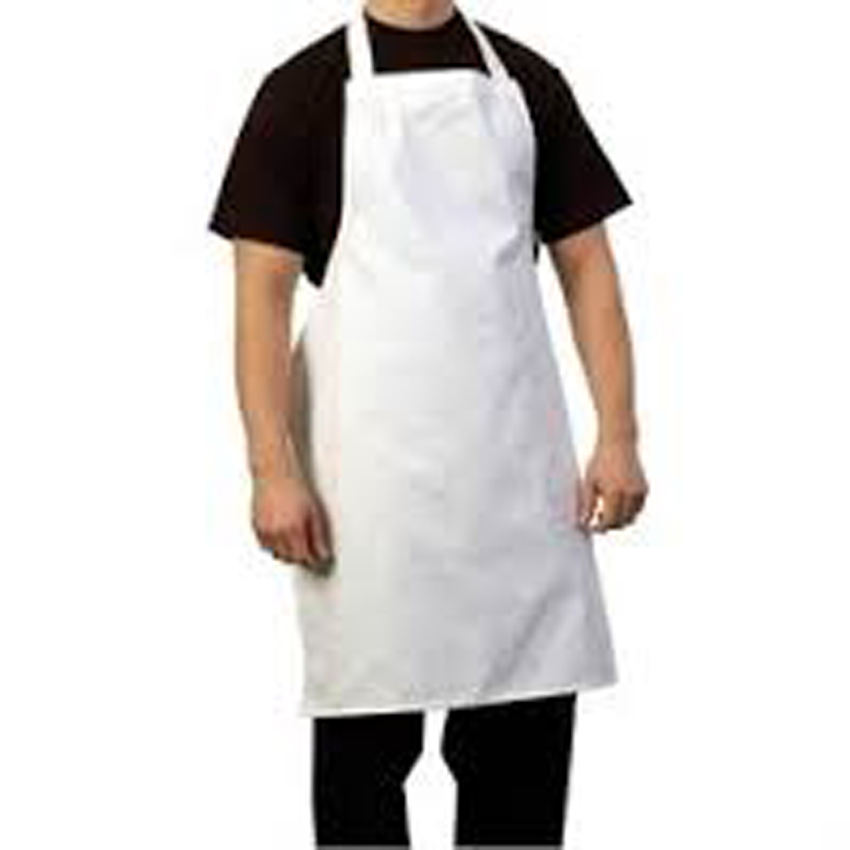 white plain apron cotton