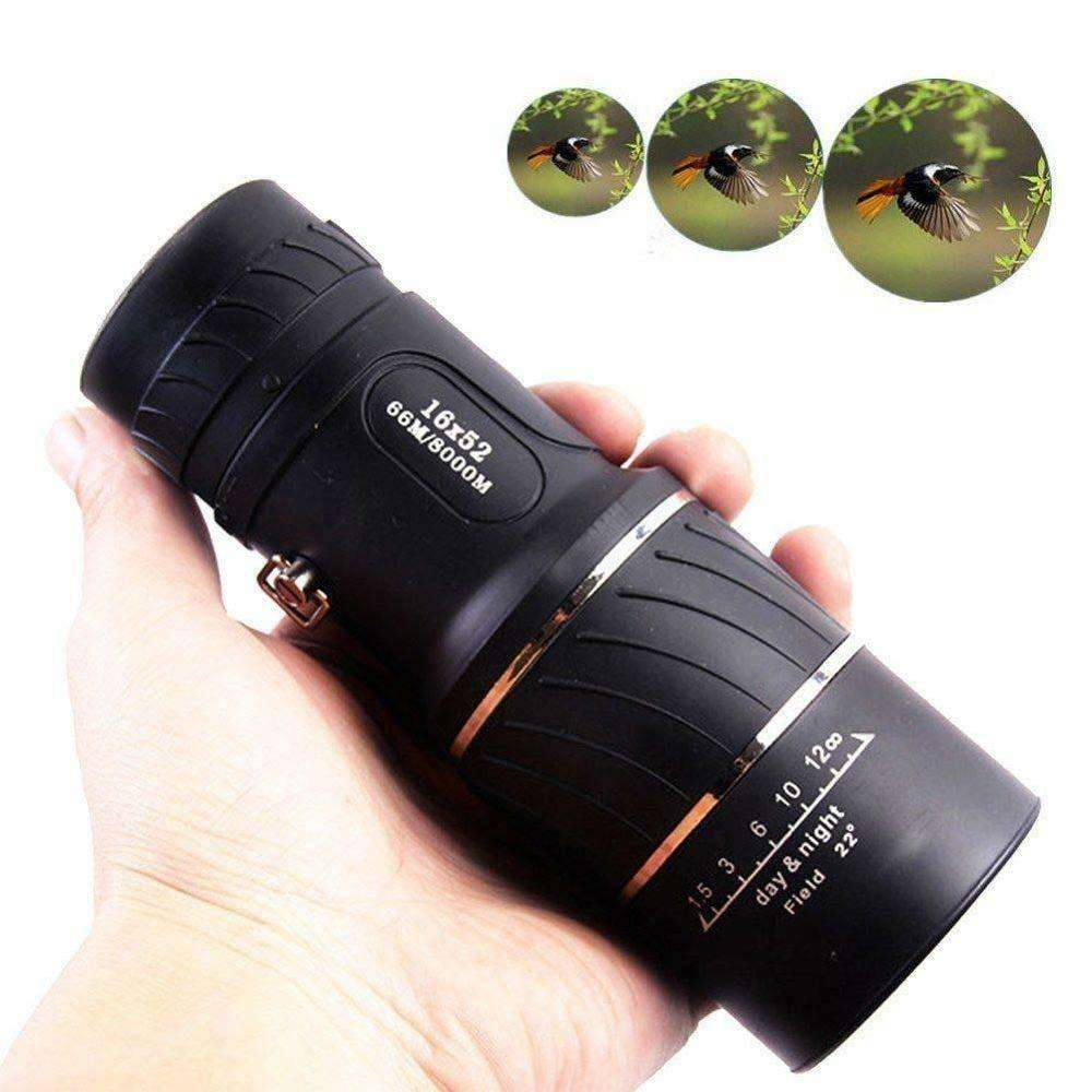 HD Optical Monocular Telescope Scope 16x52 Night Vision Hunting Hiking Camping Travel