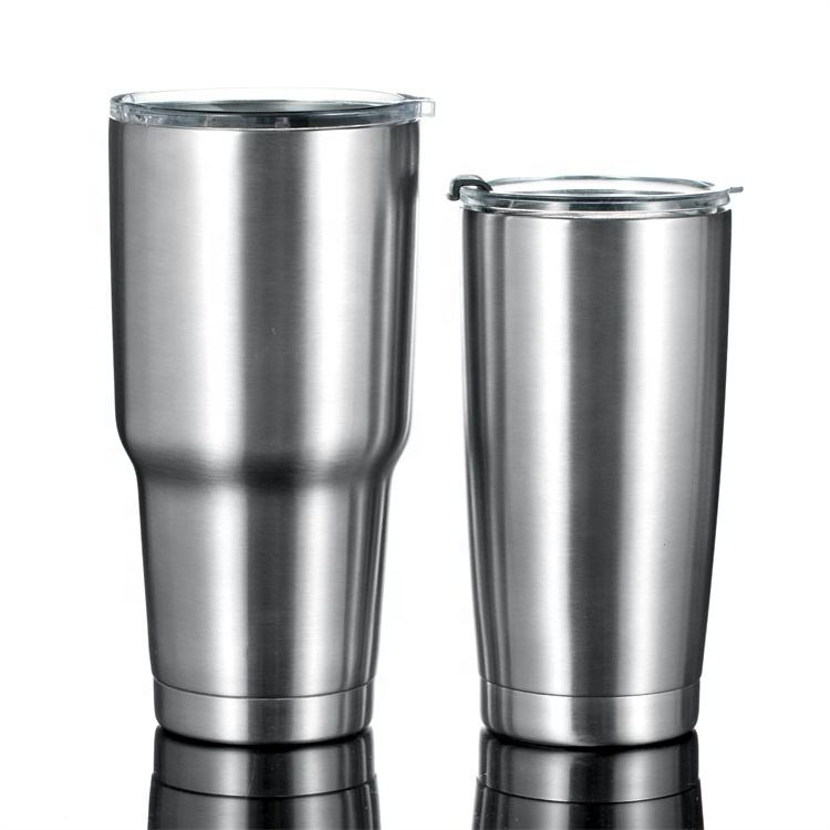 Wholesale Custom Logo 20oz/30oz Double Walled Vacuum Insulated Stainless Steel Coffee Tumbler Cups With Lids