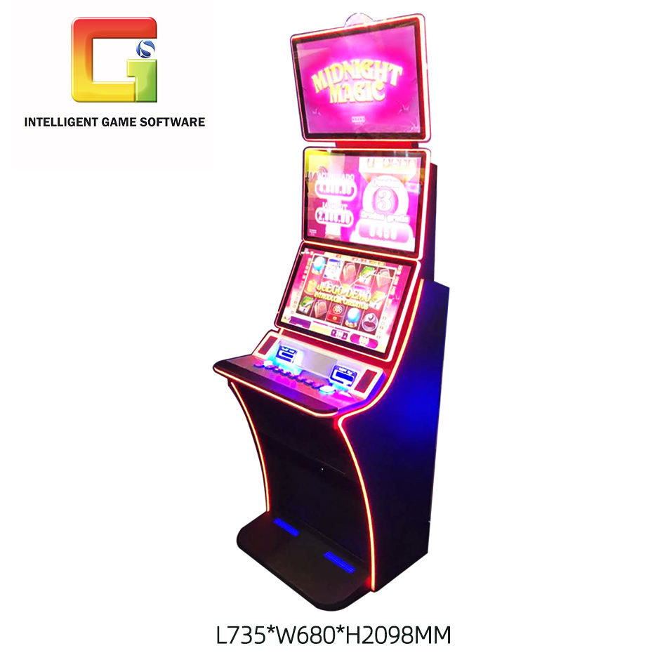 "Skill Game Boards Buffalo Skill Game Board 23.6"" Dual Touch Screen Slot Game Machine Cabinet"