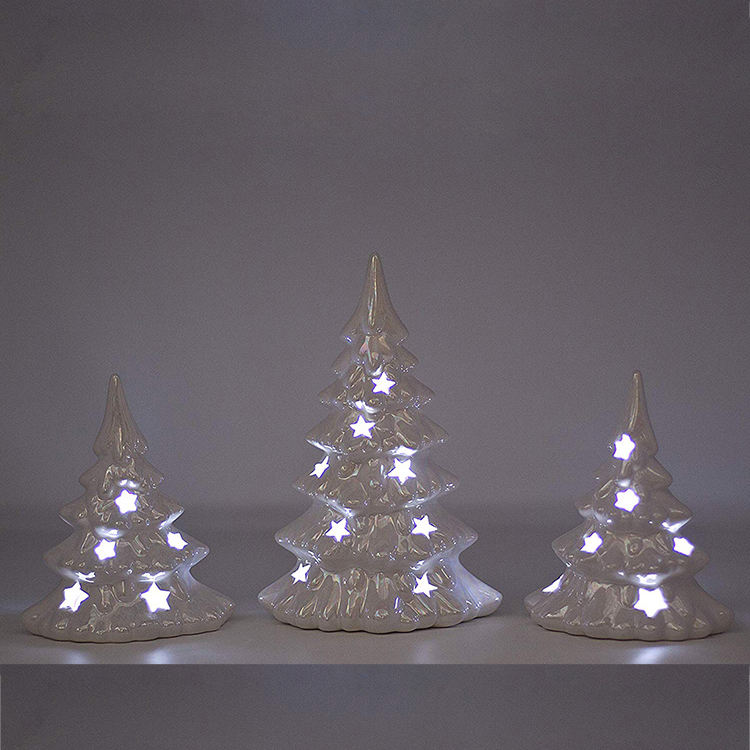 hand made home ornament indoor christmas decoration supplies lighted ceramic christmas tree