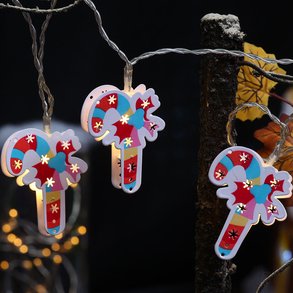 Outdoor candy cane led christmas decoration light
