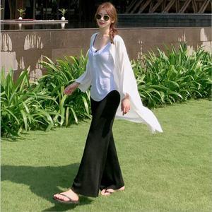 Big size Women Maternity Yoga Pants High Waist Pregnant Trousers Loose Bottom Straight Cut Soft Fabric S TO XXXL