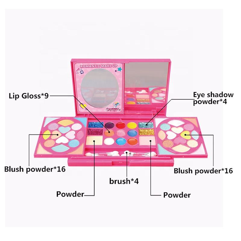 children cosmetics kit private label real kids makeup palette with small packing
