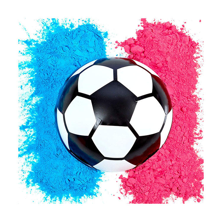 Nicro Party Supplies Blue Pink Powder Kit Gender Reveal Soccer Ball