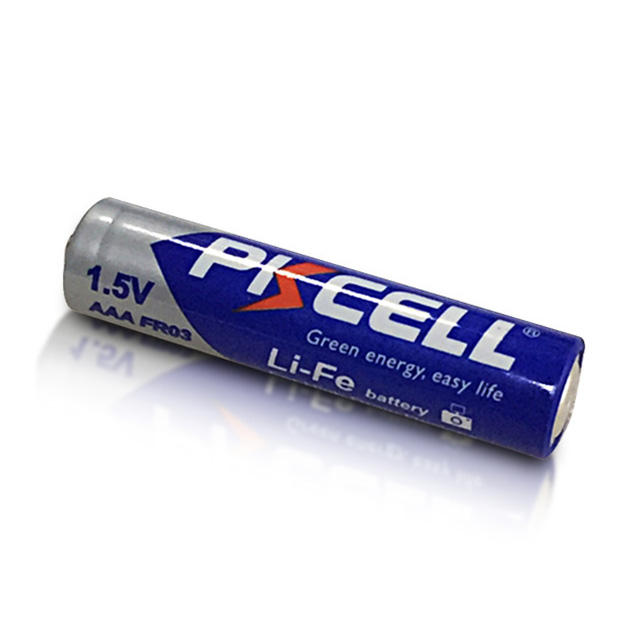 Cylindrical [ Fr03 Aaa Battery ] PKCELL FR03 FR10445 1.5v AAA 1200mah Lithium Ion Battery