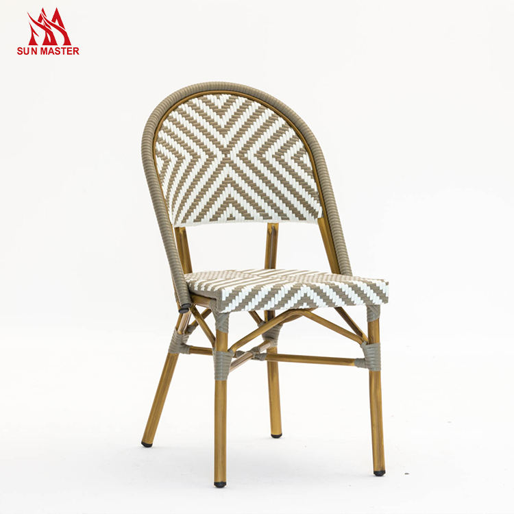 Outdoor Furniture Wholesaler Rattan Chairs Wicker Metal French Bristo For Cafes Restaurants Garden Dining Sets