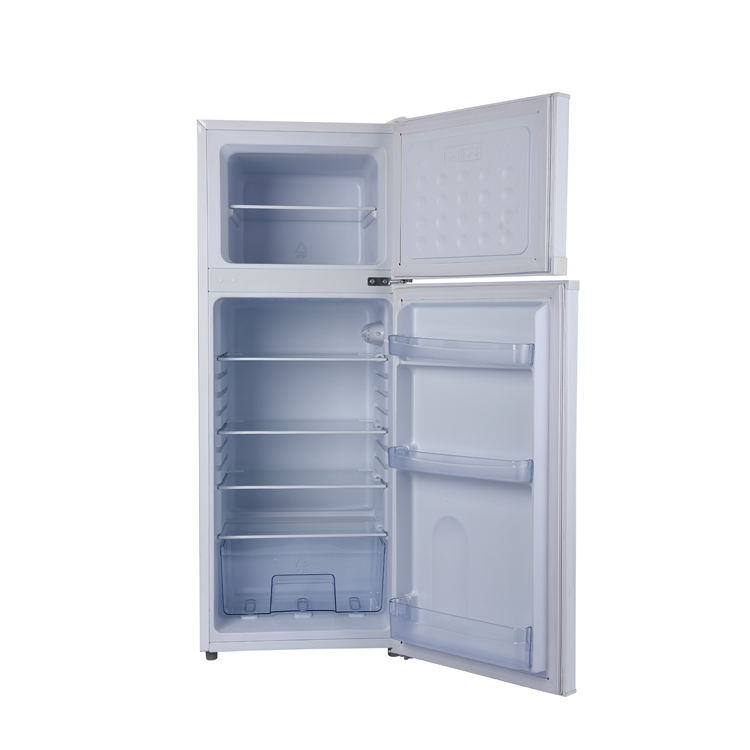 New solar powered portable fridge 12V 24V DC gas household fridge 178L top freezer high quality refrigerator