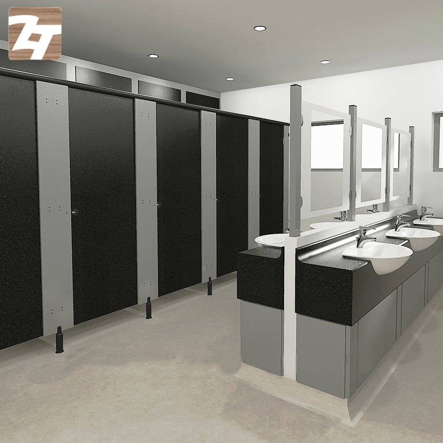 Aluminum And HCL Core Panel Stainless Steel Bathroom Toilet Stall Partitions