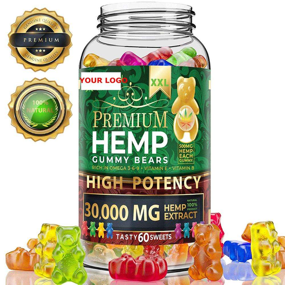 Made in Colorado USA Amazon best seller hemp gummies 30000mg hemp oil gummy bear for stress&anxiety