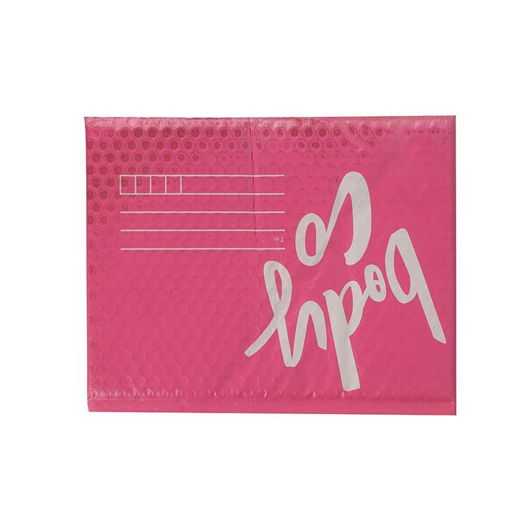 <span class=keywords><strong>Perakende</strong></span> yastıklı açık pembe yeniden poli çanta metalik baloncuklu zarf posta nakliye çantası siyah folyo zarf