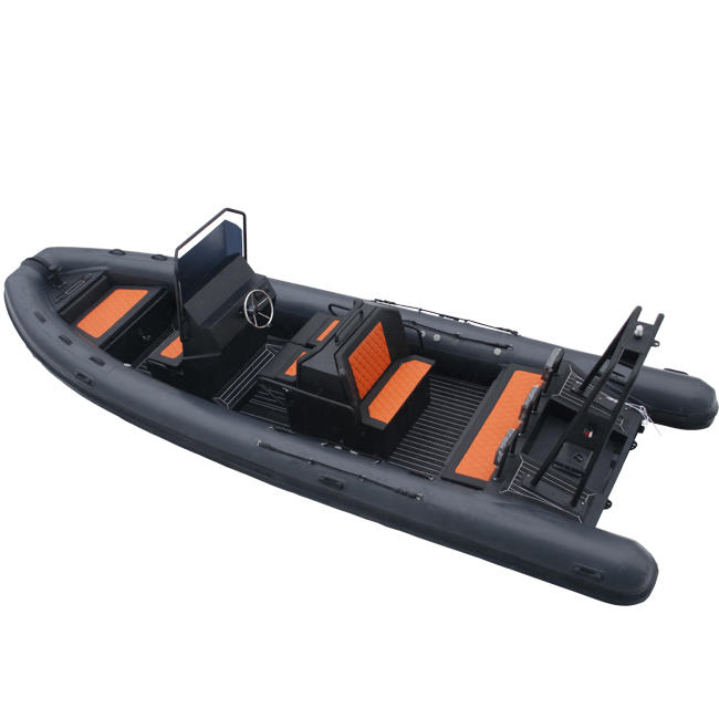 Germany AL RIB 700 Aluminum Hull RIB Orca Hypalon Cruising Inflatable Boat For Sale