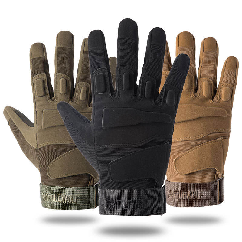 3-Colors Tactical Full Finger Airsoft Military Hunting Cycling Protective Sports Gloves