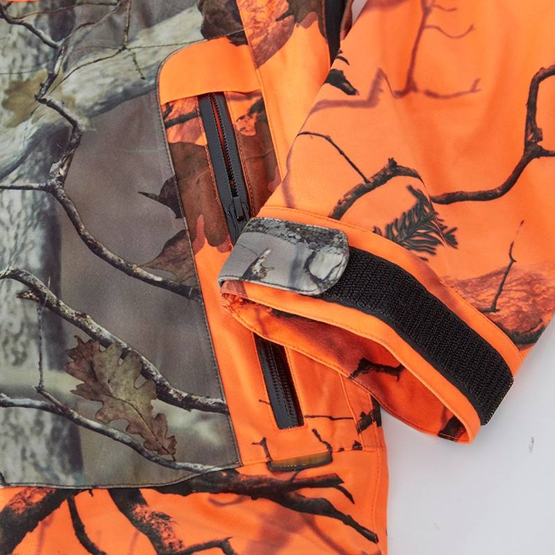 Hunting Suit Fashion Clothing Orange Camouflage Hunting Suit