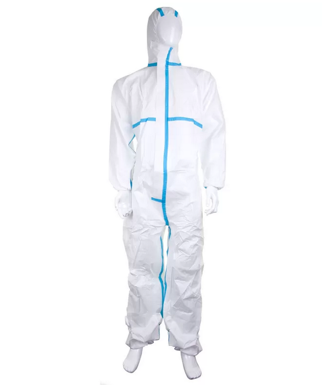 TYPE 5&6 Microporous Disposable Coverall Suit With Tape