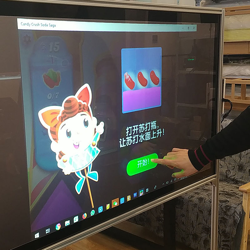 Multi-touch Foil for Glass Display 10-32inch High Sensitivity Transparent Flexible Capacitive Interactive Touch Foil Screen