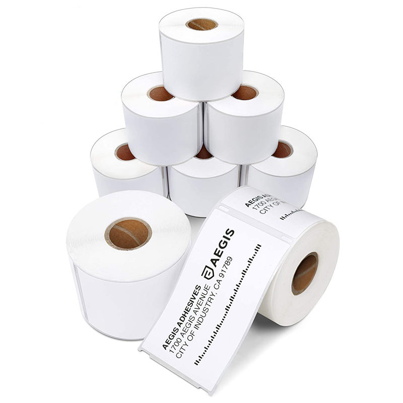 Wholesale blank packaging label sticker thermal shipping label roll