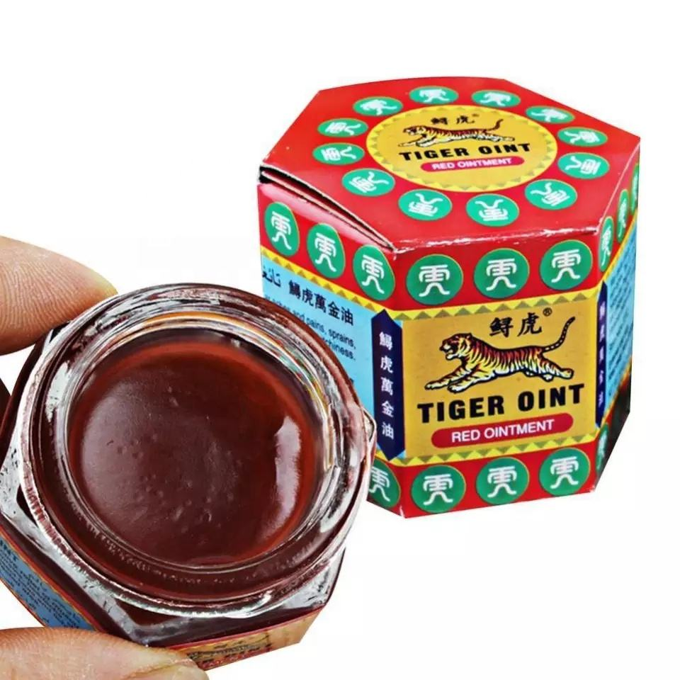 100% Original Red White Tiger Balm Ointment Pain Relief Muscle Ointment Stomachache Massage Rub Muscular Tiger Balm