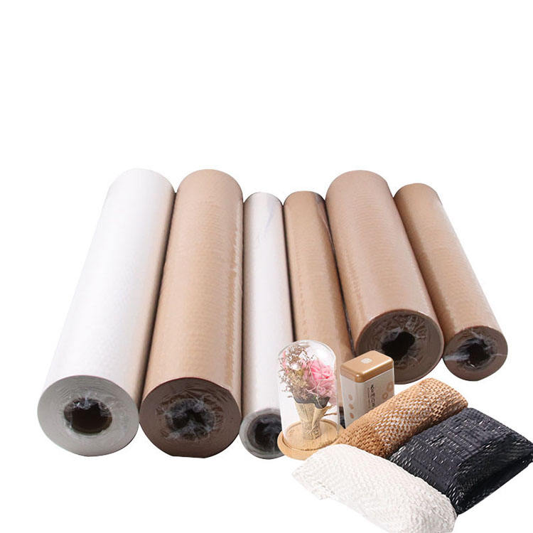 Recyclable Custom Size Honeycomb Packaging Paper White Honeycomb Cushion Paper Roll Brown Honeycomb Kraft Paper