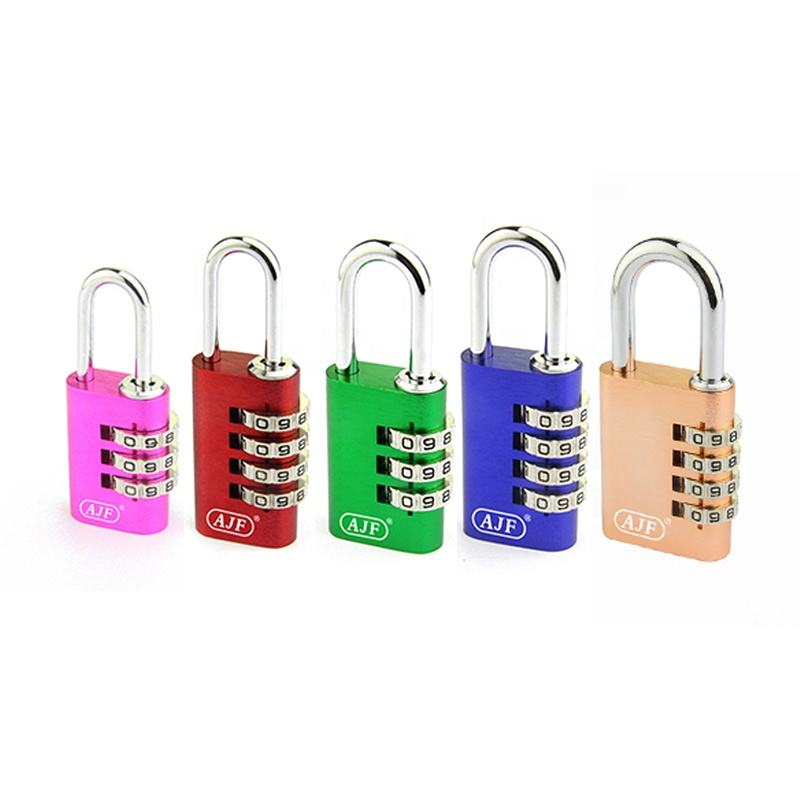 Hot Selling High Quality AJF Multi Color Aluminium Digital Combination Padlock Luggage Lock